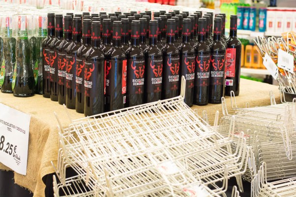 Hiper's stocks of wine and BBQ grills ready to tempt us.