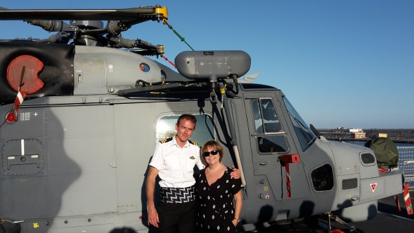 Helicopter pilot and his machine