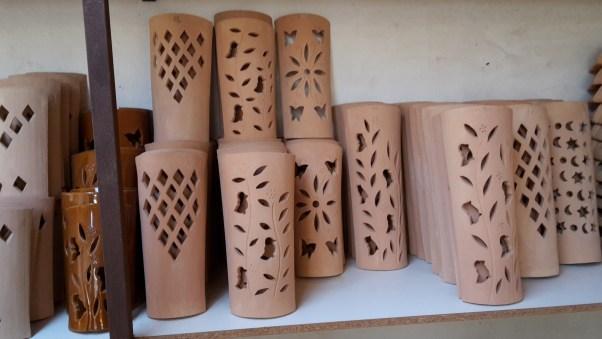 Terracotta goods at Tejas Bandris