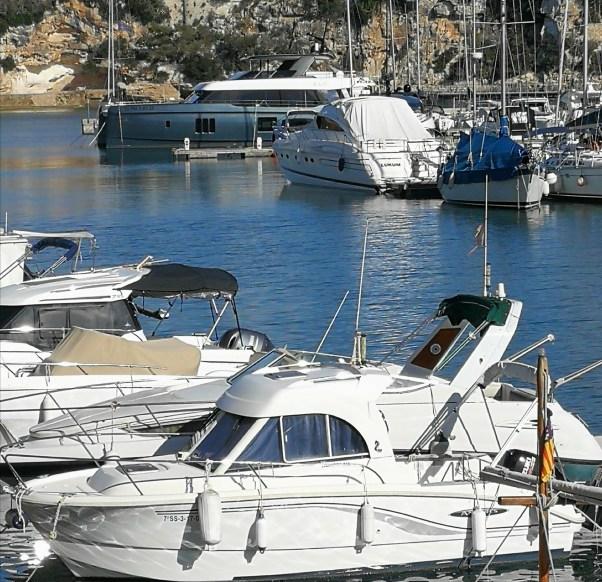 Porto Cristo. The large boat at the back belongs to tennis supremo Rafael Nadal