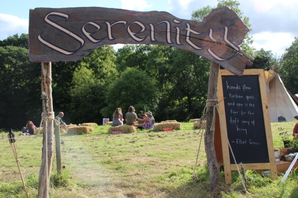 Relaxing in the Thrive area at off Grid Festival