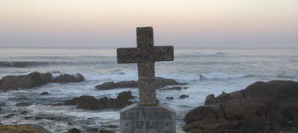 Wayside cross on the Camino de Santiago