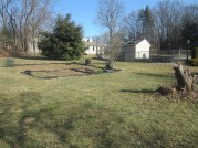March 2012 the garden is ready to be retilled and transformed!