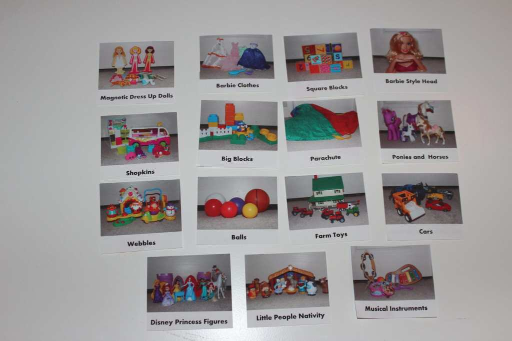 Labels for the playroom bins