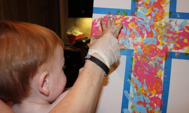 Cross Handprint Artwork for Easter