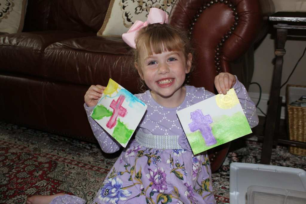 Brielle with her cards
