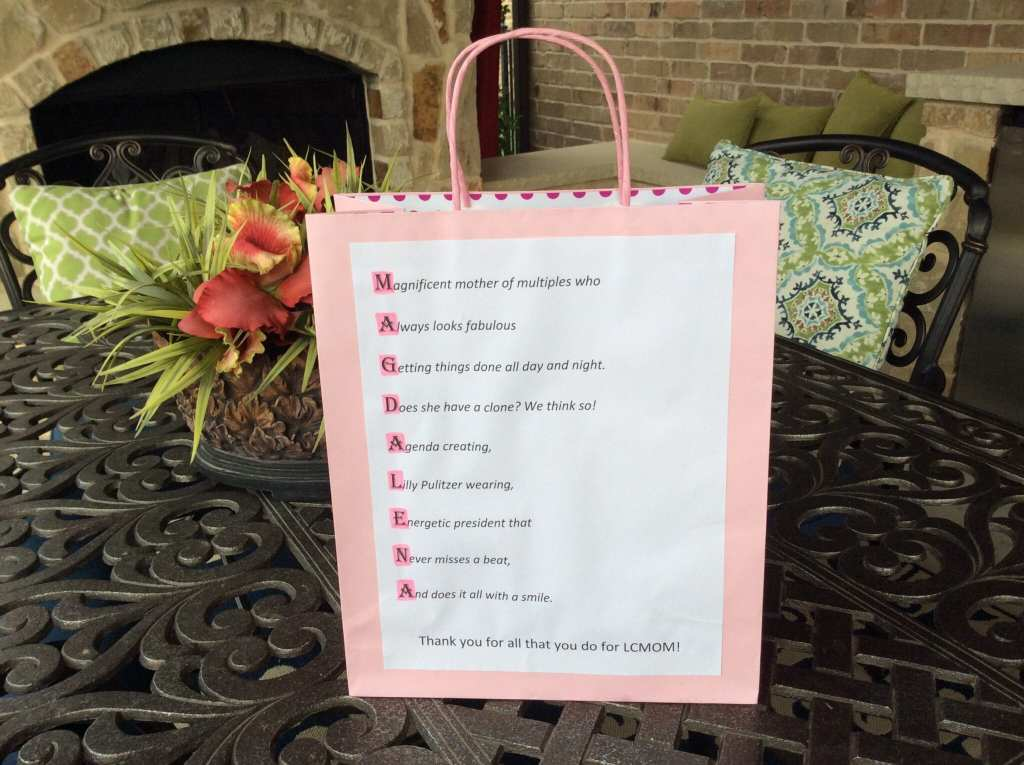 Personalized gift bag from my Moms of Multiples board- Thanks Kathryn!