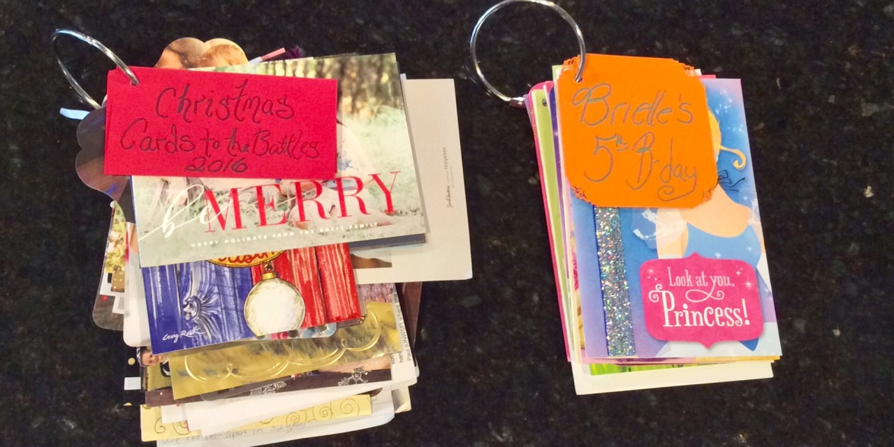 Great way to Save Cards and Memories