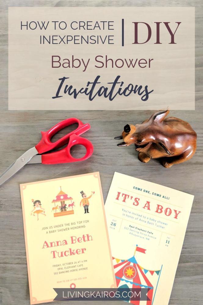 Inexpensive Diy Baby Shower Invitations
