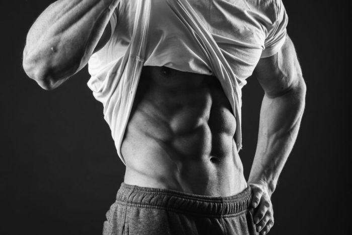 six pack abs, muscle man
