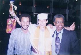 Sreejit, Chaitanya, and dad