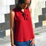 Casual Workwear: Lady in Red