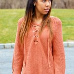 On Trend: The Oversized Lace-Up Sweater