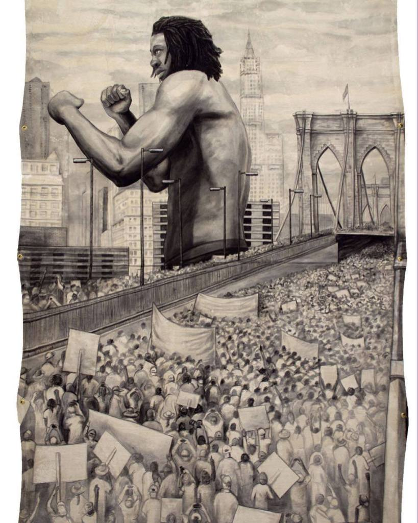 """Dareece Walker """"Black is the Giant: Protest, Stand and Fight"""" - Governors Island Art Fair"""