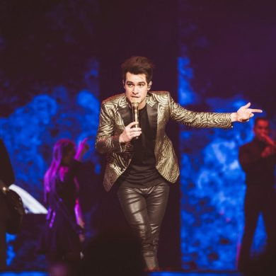 Panic! At the Disco member Brendon Urie at the KeyBank Center in Buffalo, NY.