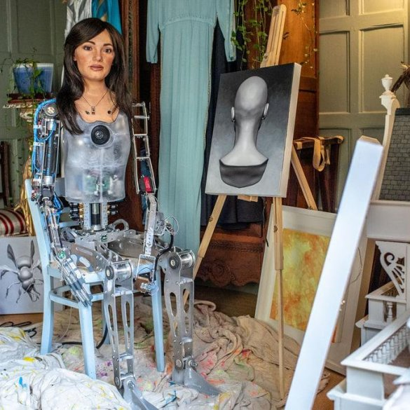 Ai-Da, an AI guided robot, is set to hold its first art exhibition | News | LIVING LIFE FEARLESS