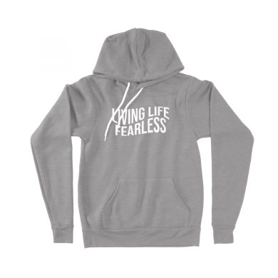 The Wave Hoodie in Heather Grey | Shop | LIVING LIFE FEARLESS