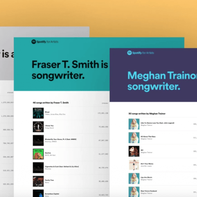 Spotify shows love to Songwriters by launching new dedicated pages and playlists | News | LIVING LIFE FEARLESS