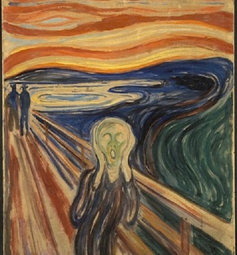 The mystery surrounding the inscription on Munch's 'The Scream' painting has been resolved | News | LIVING LIFE FEARLESS