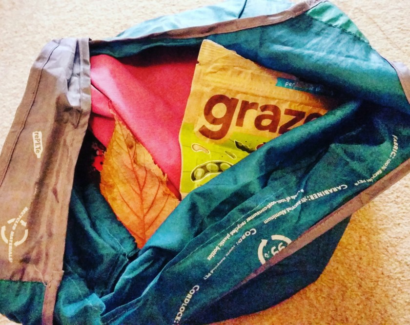 Graze, snacks, reusable bottle, natural collection, waterproofs