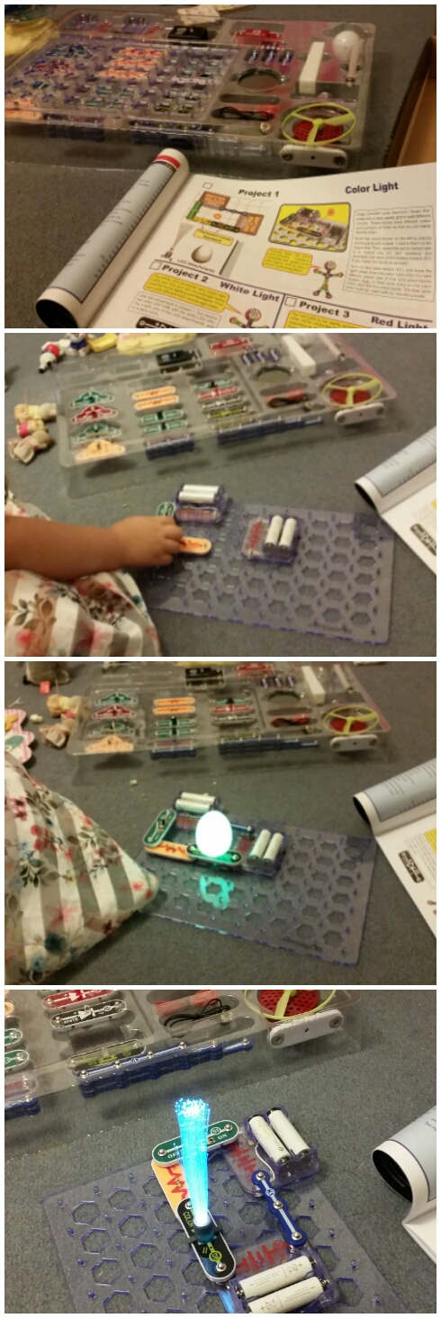 snap circuits, review, educational resources, STEM, science, activities at home, living life our way, home education, homeschool