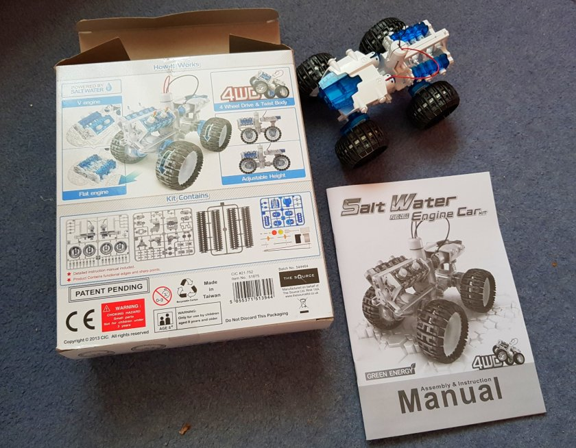 STEM, STEAM, educational toys, science, engineering, home ed, Wicked Uncle, toy review, salt water engine car