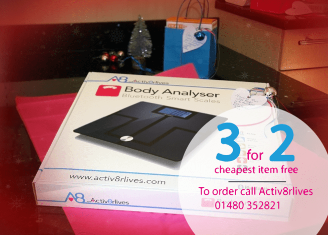 Body Analyser Smart Scales image with info about activ8rlives 3 for 2 offer