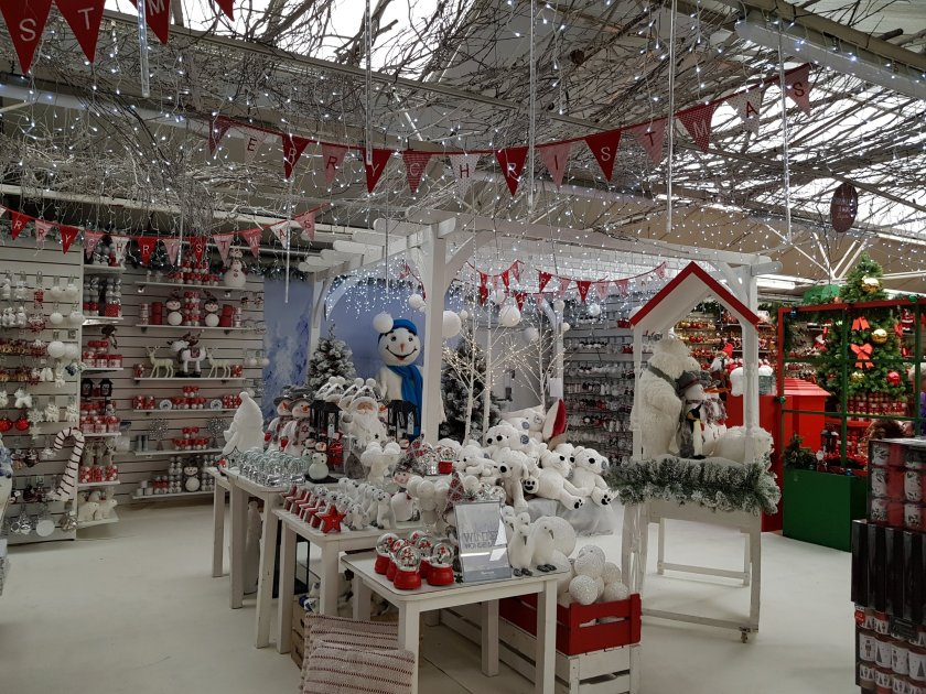 Notcutts Christmas section