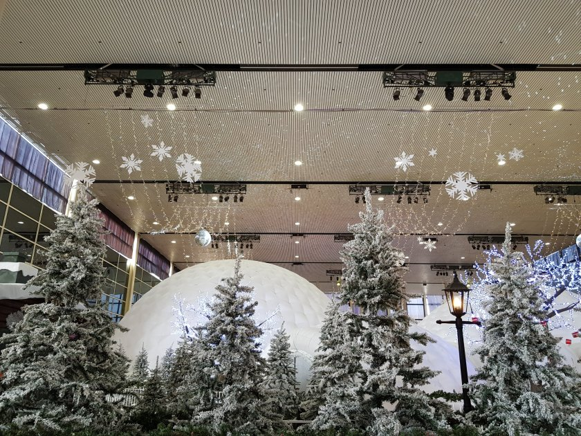 Centre MK festive display with igloo