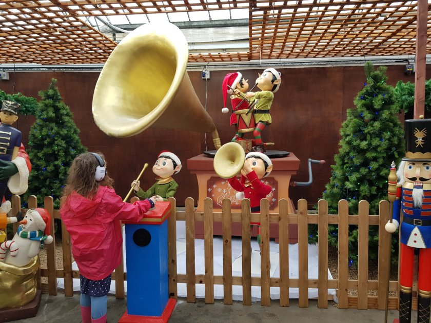 An interactive elf display at Springtime Crews Hill