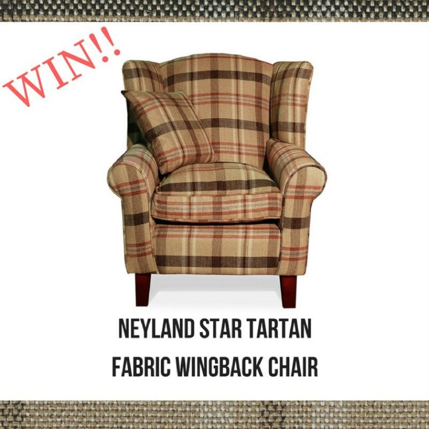 Win A Neyland Star Tartan Fabric Wingback Tub Chair