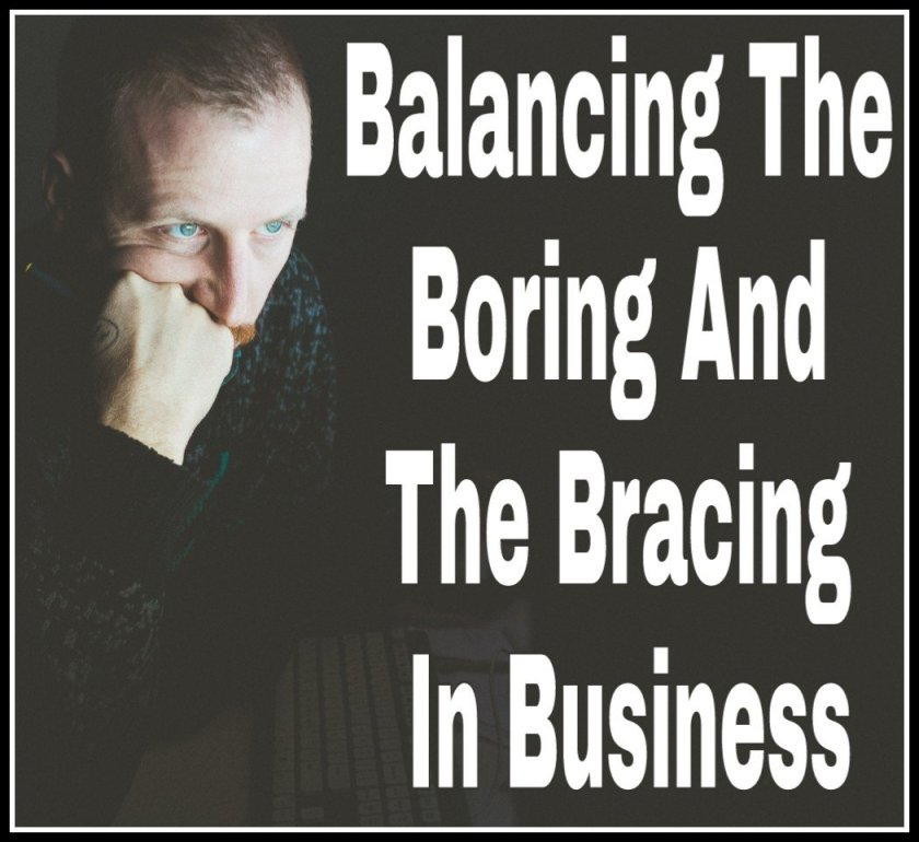 Balancing The Boring And The Bracing In Business title