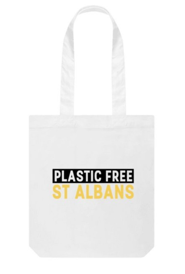 Plastic Free St Albans eco friendly reusable bag organic cotton sustainable bag