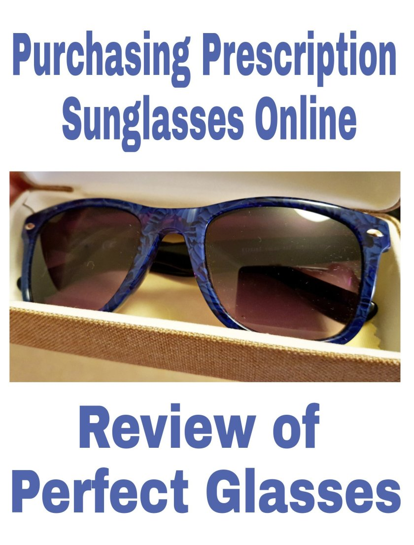 Purchasing Prescription Sunglasses Online: Review of Perfect Glasses title with image of sunglasses in case