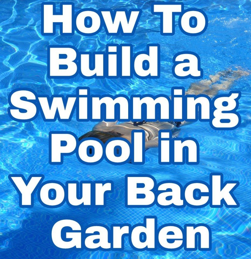 How To Build a Swimming Pool in Your Back Garden with swimming pool background image