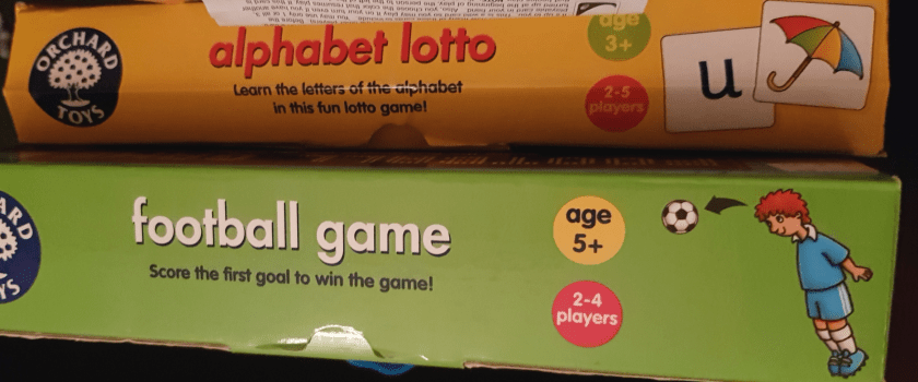 Orchard Toys game boxes