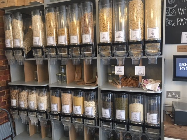 The Refill Pantry food stock - pasta, grains. Zero waste. Plastic-free. Zero Waste Week