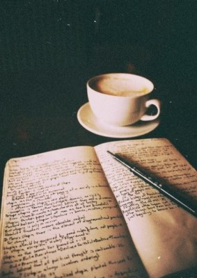 ink paper and coffee