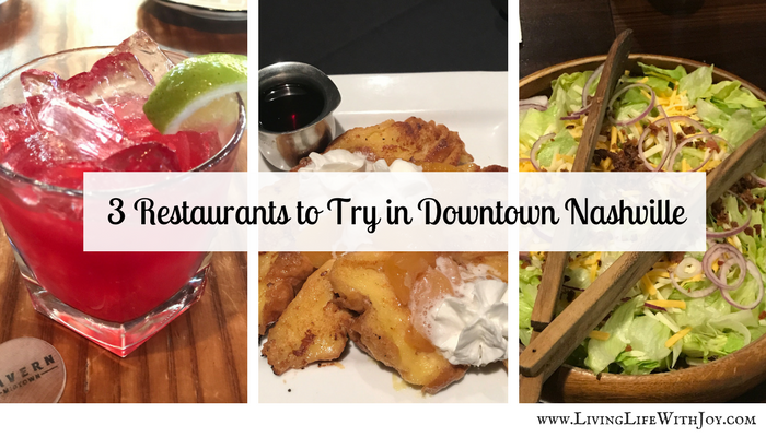 3 Restaurants to Try in Downtown Nashville