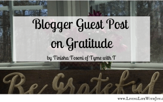 Guest Blogger Post on Gratitude