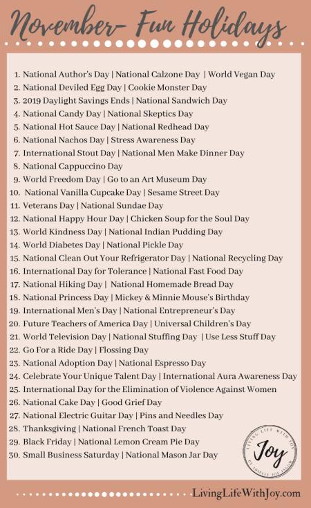 November Holidays