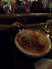Kyle's massive chicken parm.