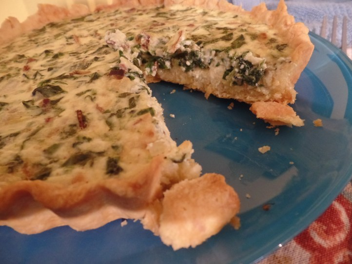The quiche filling set perfectly, creamy yet firm. I swear, this offering might have gotten me a compliment from Mary Berry. (The recipe was from Bake! by Nick Malgieri.)