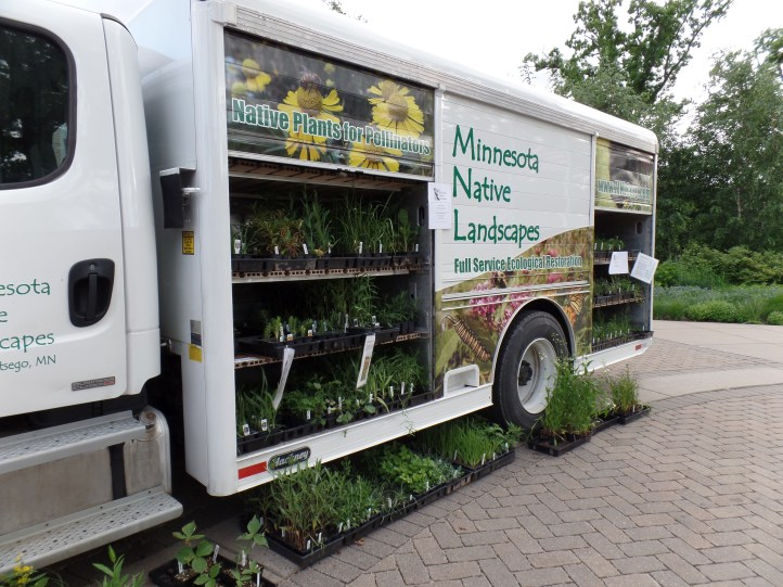 The Three Rivers Park District appropriated this old Culligan truck for their mobile native plant sale purposes.