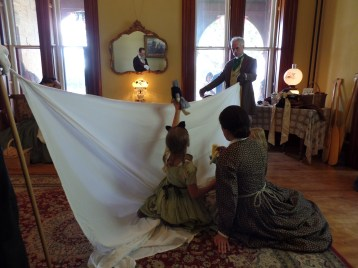 After our tableaus, the children and their mother put on a rousing puppet show of Cinderella.
