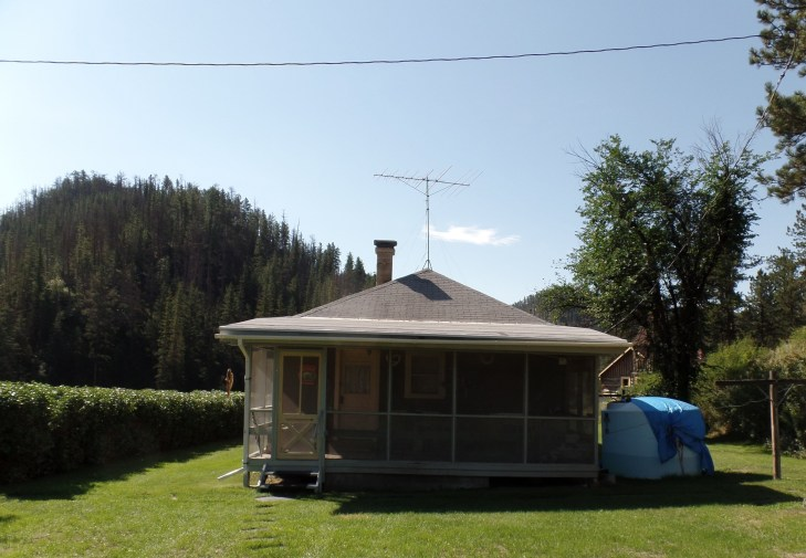 Back of the house and the screen porch.