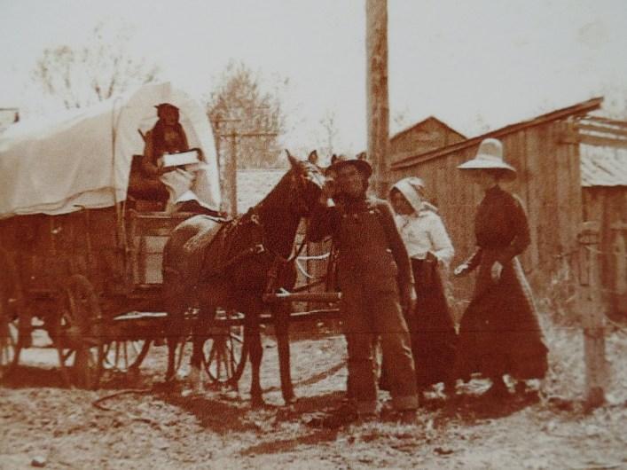 From left: Mrs. Miller's nephew's wife, Mrs. Miller's nephew, Mrs. Miller, and Irene