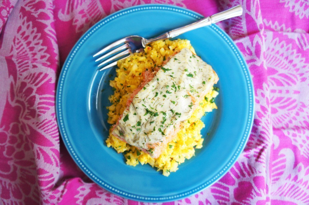 Creamy Lemon Dill Baked Salmon