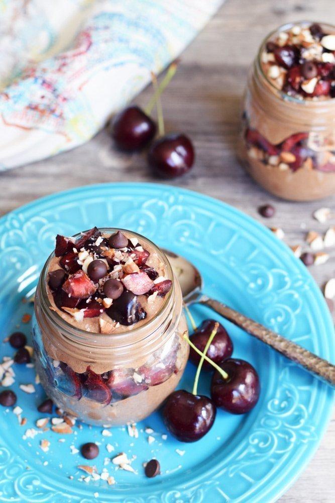 Chocolate Cherry Mousse Parfaits