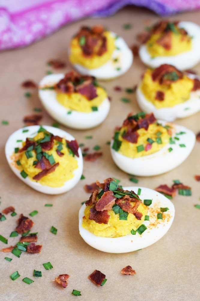 Bacon Fat Deviled Eggs